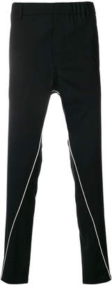 Ann Demeulemeester Icon piped skinny tailored track pants