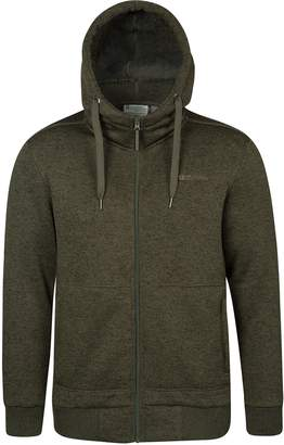 Warehouse Mountain Nevis Mens Fur Lined Hoodie -Soft Fleece Sweatshirt