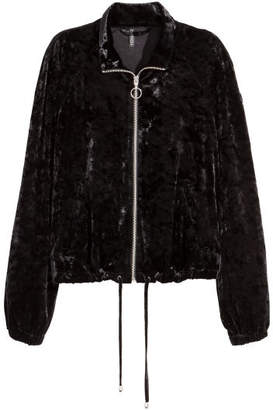 H&M Crushed-velvet Jacket - Black