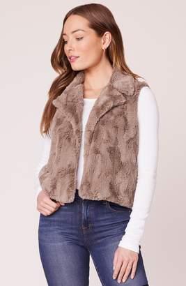 BB Dakota Ain't It Fuzzy Faux Fur Vest