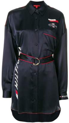 Tommy Hilfiger belted racing shirt