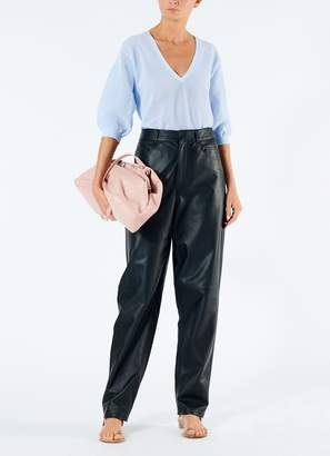 Tibi Tissue Leather Carpenter Jean