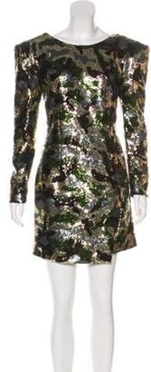 Dundas Camouflage Cocktail Dress w/ Tags Silver Camouflage Cocktail Dress w/ Tags