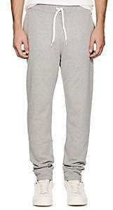 Tomas Maier MEN'S COTTON FLEECE JOGGER PANTS - GRAY SIZE XXL