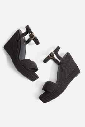 Topshop Wild Rope Wedge Sandals