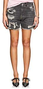 Faith Connexion Women's Distressed Denim Shorts - Black