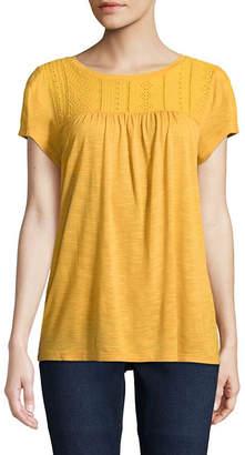 ST. JOHN'S BAY Short Sleeve Round Neck T-Shirt-Womens