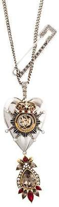 Alexander McQueen Jewel Heart Locket Necklace