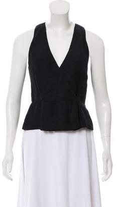 Protagonist Surplice Sleeveless Top