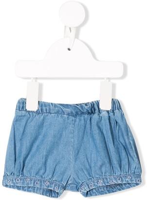 Knot elasticated waist shorts