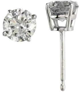 Effy 18K White Gold Diamond Stud Earrings