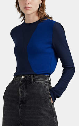 Woolmark Colovos X Prize Women's Colorblocked Merino Wool Sweater - Blue