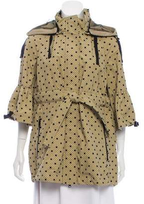 RED Valentino Polka Dot Hooded Jacket