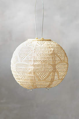 Anthropologie Geometric Lace Solar Lantern, Small