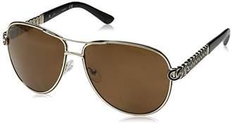 GUESS Women's Metal Polarized Aviator Sunglasses