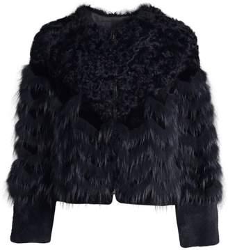 Jocelyn Savage Love Kalgan Lamb, Silver Fox & Rabbit Fur Coat