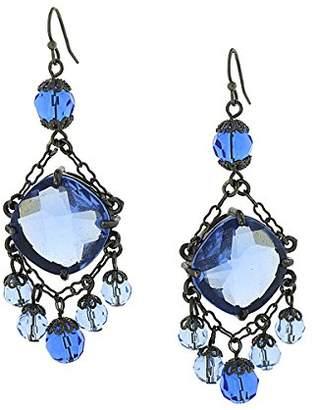 1928 Jewelry Moonlit Sky Opulent Chandelier Style Earrings
