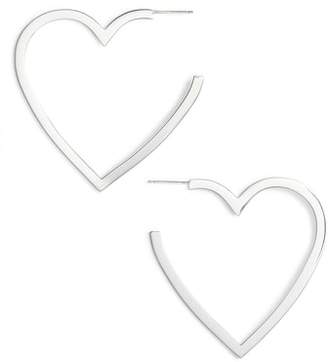 Jennifer Zeuner Jewelry Larissa Medium Open Heart Earrings