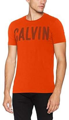 Calvin Klein Men's Tyrus Slimfit Cn Tee Kniited Tank Top, (Rebel Red)