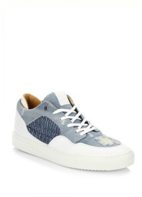 AndroidANDROID HOMME Omega Low Denim & Leather Sneakers