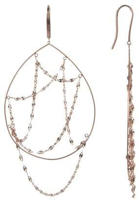 Lana 14K Rose Gold Oval Earrings