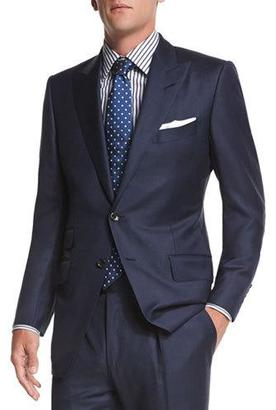TOM FORD O'Connor Base Sharkskin Two-Piece Suit, Navy $3,870 thestylecure.com