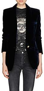 Balmain Women's Velvet Single-Button Blazer - Navy