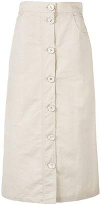Christian Wijnants chino style a-line skirt