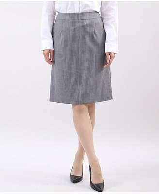 Clear Impression (クリア インプレッション) - CLEAR IMPRESSION 《Brilliantstage》ピンストライプタイトスカート《洗えるスーツ》 クリアインプレッション スカート