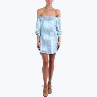 Bella Dahl Off-the-Shoulder Button-Down Dress