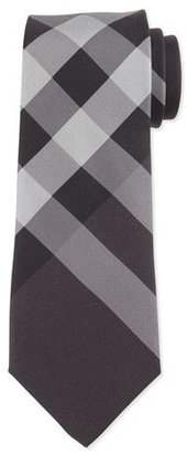 Burberry Beat-Check Silk Tie, Charcoal $190 thestylecure.com