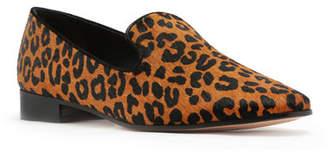 Schutz Graca Leopard Calf Hair Loafers