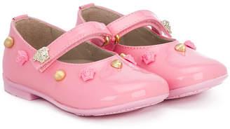Versace studded ballerina shoes