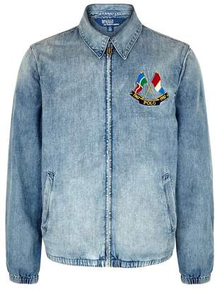 Polo Ralph Lauren Blue Embroidered Denim Jacket
