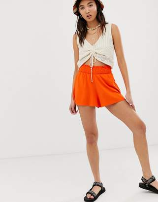 Asos Design DESIGN shorts with shirred waist