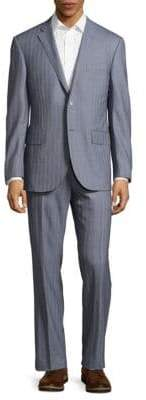 Corneliani Striped Virgin Wool Suit