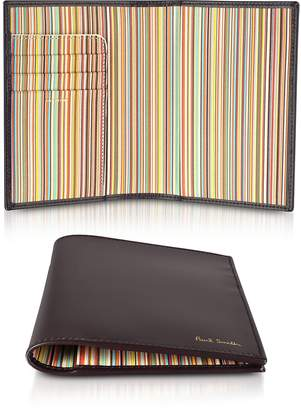 Paul Smith Burgundy Leather Passport Cover