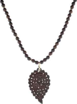 Tamara Comolli Snake Wood India Leaf Necklace