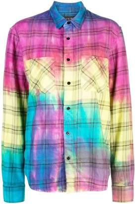 Amiri rainbow plaid shirt