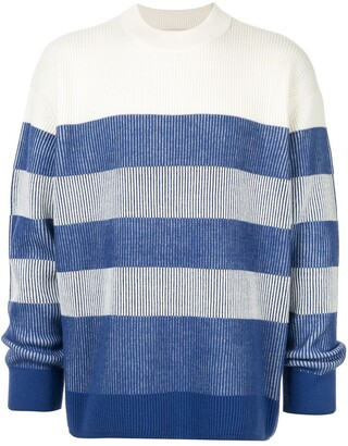 CK Calvin Klein striped long-sleeve jumper