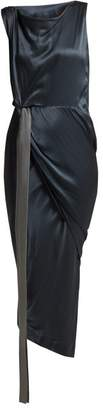 Vivienne Westwood Vian Draped Satin Dress - Womens - Dark Grey
