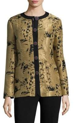 Etro Leaf-Print Jacket