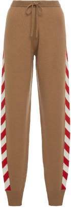 Madeleine Thompson Nix Striped Cashmere Joggers