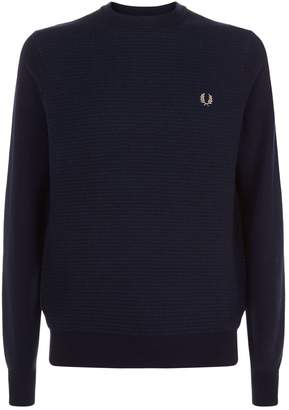 Fred Perry Textured Crew Neck Sweater