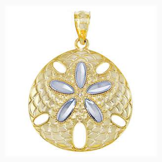 FINE JEWELRY 14K Two-Tone Gold Sand Dollar Charm Pendant