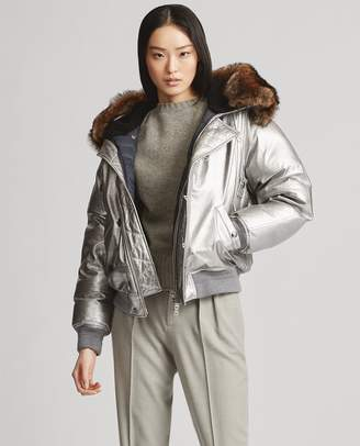 Ralph Lauren Metallic Leather Snorkel Coat