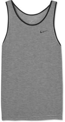 Nike Breathe Ribbed Dri-fit Stretch Tank - Gray