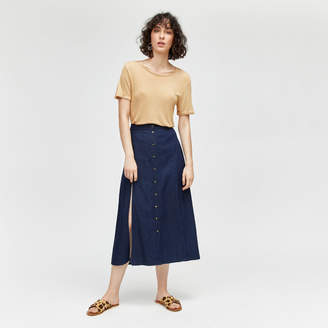 Warehouse Split Front Midi Skirt