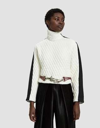 Mazarine XIX Mixed Material Sweater