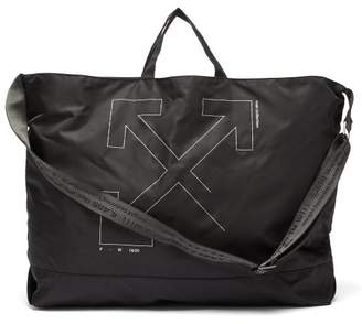 Off-White Off White Unfinished Industrial Strap Tote - Mens - Black